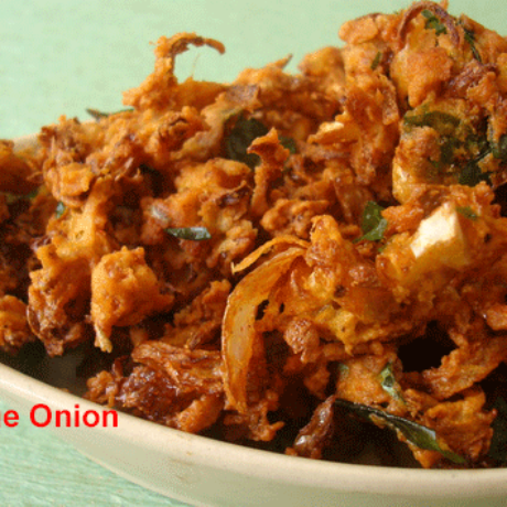 Cabbage Onion Pakoda Recipe