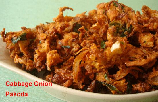 Cabbage Onion Pakoda Recipe